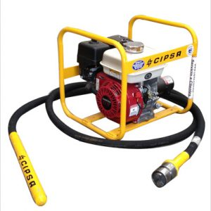 Vibrador Cipsa con motor Honda 5.5 hp, chicote 4 mts, cabezal 1 1/2″.